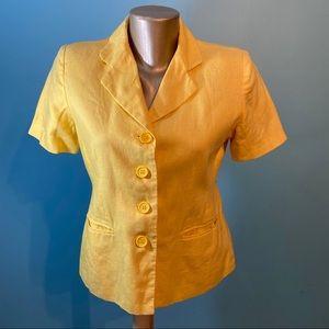 Bagatelle short sleeved linen blazer